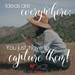 Ideas Are Everywhere You Just Have To Capture Them